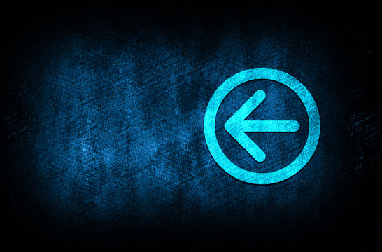 Back arrow icon abstract blue background illustration digital texture design concept