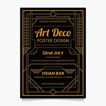 ART DECO POSTER DESIGN TEMPLATE