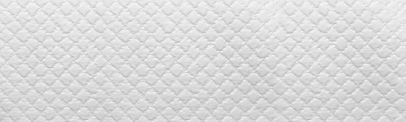 Fototapeta wide white texture of sofa background. White Leather Texture obraz