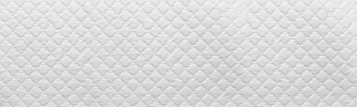 wide white texture of sofa background. White Leather Texture