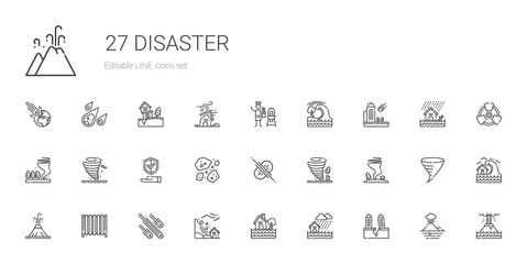 disaster icons set Fotomurales