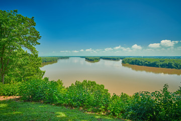Mississippi River from Riverview Park Hannibal, MO