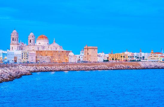 The seashore in old Cadiz, spain