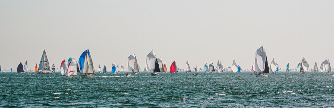 Cowes June 29, 2019, the Island Race on the Isle of Wight