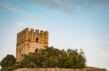 Fortress on the rock in Roccascalegna. Abruzzo region, Italy