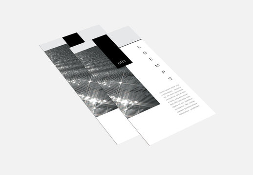 Trifold Brochure Layout with Black Accents