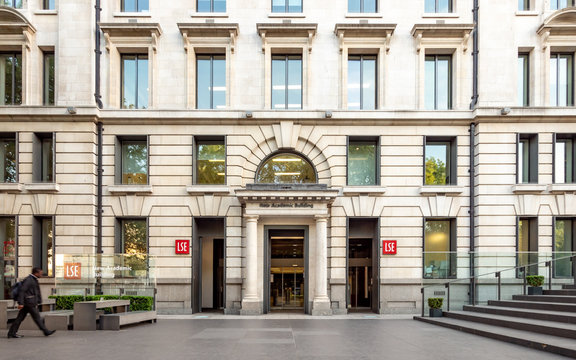 London School of Economics, New Academic Building. The entrance and façade to a constituent college of the LSE on Lincoln's Inn Fields.