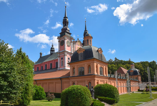 Basilica of the Visitation of the Virgin Mary in Swieta Lipka (Holy Lime). Warmian-Masurian Voivodeship, Poland.
