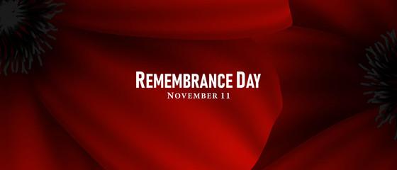 Obraz November 11, Remembrance day, A poppy flower design Billboard, Poster, Social Media template vector Illustration - fototapety do salonu