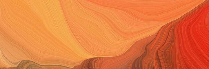 curved speed lines background or backdrop with coral, firebrick and coffee colors. dreamy digital abstract art Fotomurales