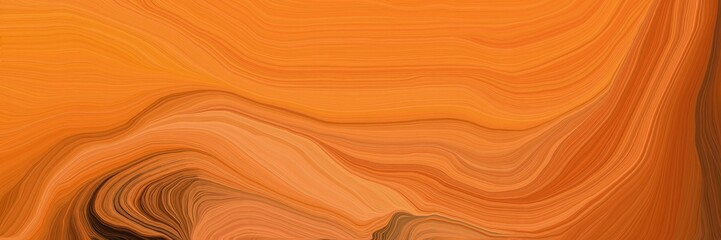 orange wave lines from top left to bottom right. background illustration with bronze, saddle brown and dark red colors Fototapete