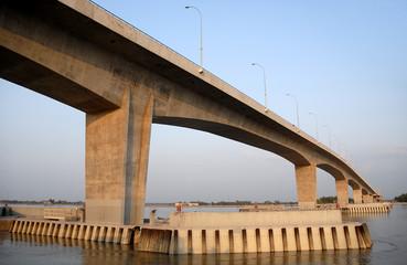 The Khan Jahan Ali Bridge, also known as the Rupsa Bridge in Khulna, Bangladesh.  The Khan Jahan Ali Bridge crosses the Rupsa (Rupsha) River close to Khulna for travel to Dhaka, Bagerhat and Mongla.