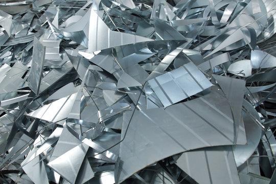 Aluminum swarfs . Aluminum metal scrap .
