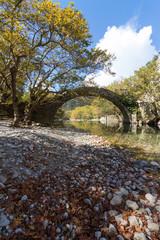 Steinbogenbrücke in Konitsa, Griechenland