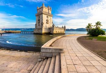 Torre of Belem - famouse landmark of Lisbon, Portugal Fotomurales
