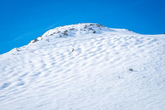 mogul ski track at Grandvalira Ski Resort, Andorra