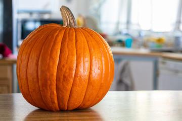 Pumpkin Sitting on Kitchen Counter-001