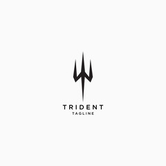 Trident Logo Icon Design Template Vector Illustration