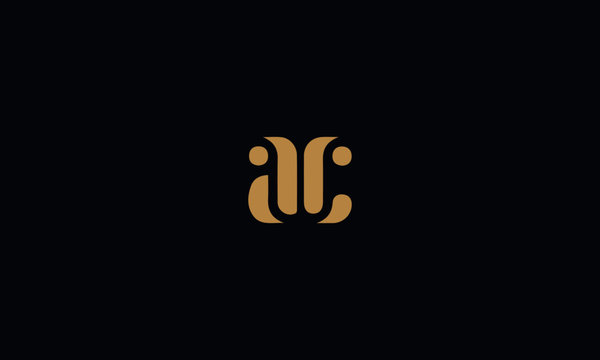 AC logo design template vector illustration minimal design