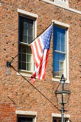 USA flag on building