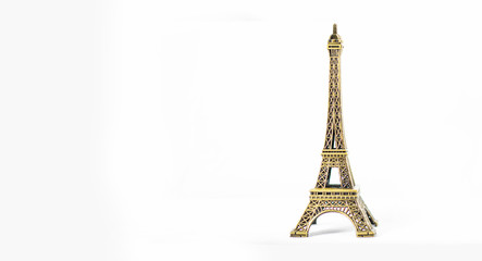 Poster Eiffeltoren Eiffel tower ornament isolated. Paris best destination - Symbol of Paris