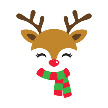 Reindeer Face Photos Royalty Free Images Graphics Vectors Videos Adobe Stock