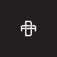DA Initial letter overlapping interlock logo monogram line art style