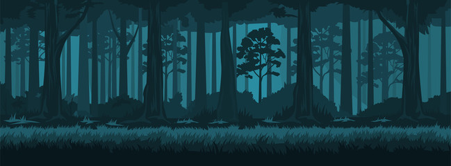 Summer night forest