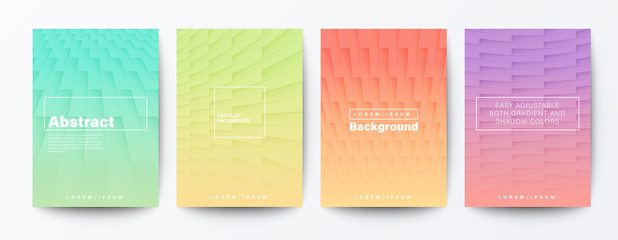 Set of gradient brick wall background. light pastel abstract pattern background for Brochure, Flyer, Poster, leaflet, Report, Book cover, Banner, Presentation, Website, wallpaper.