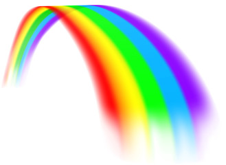 A colorful rainbow design element concept