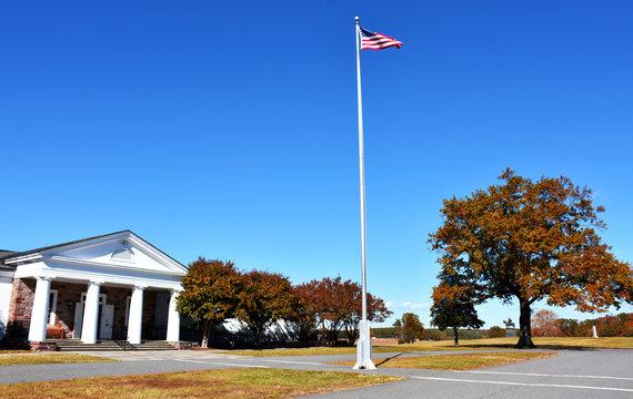 Visitor Center on the Manassas National Battlefield Park, Virginia, USA