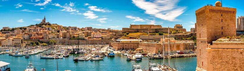 Alter Hafen in Marseille Panorama