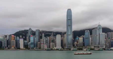 Fototapete - Timelapse of Hong Kong city