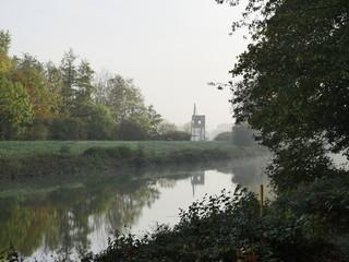 Poster Channel Kanal Hamm im Herbst