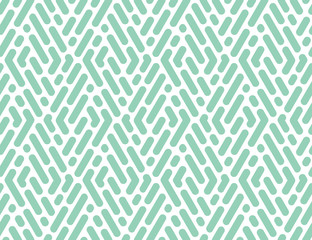 Foto op Canvas Geometrisch Abstract geometric pattern with stripes, lines. Seamless vector background. White and green ornament. Simple lattice graphic design