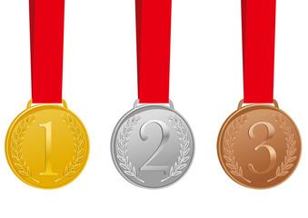 金銀銅メダル イラスト