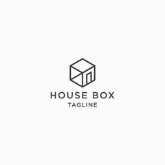House Box Logo Icon Design Template Vector Illustration