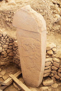Gobeklitepe, Sanliurfa / Turkey. Gobekli Tepe is an archaeological site in Sanliurfa, Turkey  A