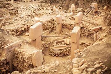 Gobeklitepe, Sanliurfa / Turkey. Gobekli Tepe is an archaeological site in Sanliurfa, Turkey  A