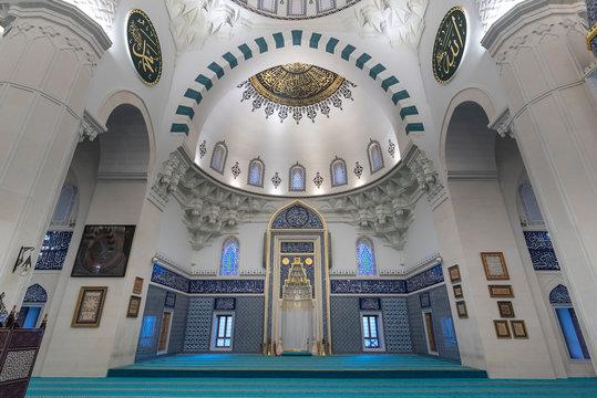 ANKARA, TURKEY - The New Melike Hatun Mosque, close to Genclik Park, in the capital city