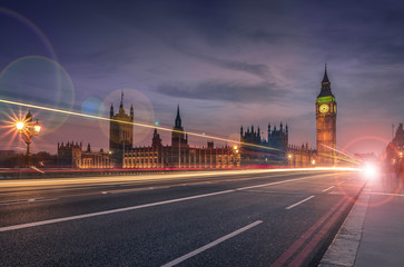 Long exposure of Big Ben in London