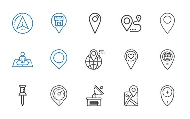 position icons set