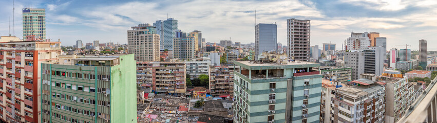 Beautiful view of Luanda city, difference between worlds, the degraded and the new. Angola.