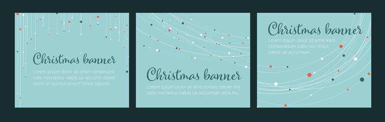 Set of christmas Inline/Medium Rectangle banner templates