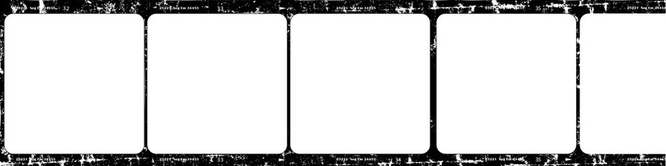photographic film,vintage picture frames,film stripe,empty frames, free pics space,grunge vector ,isolated on white background