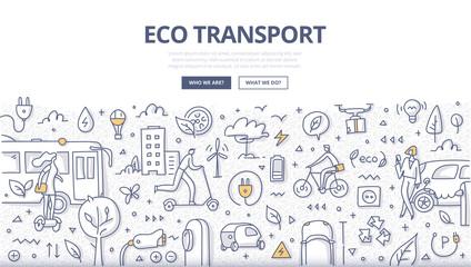 Eco Transport Doodle Concept