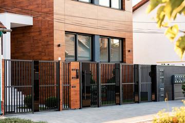 Fototapeta Exterior of modern residential building. obraz