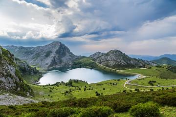 Covadonga, Spain. Picturesque Lake Enol