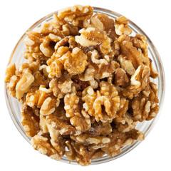 Close up of  raw peeled walnut