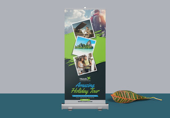Roll Up Banner Layout with Rectangular Elements